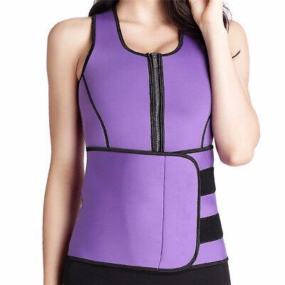 Women Sauna Thermo Shaper Sweat Waist Trainer Belt Slimming Vest Neoprene Corset 11