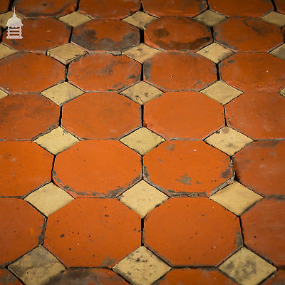 Stunning 18th C Octagonal and Square Church Floor Tiles – 7 SqMs 7