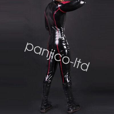 Gummi Latex Rubber Fashion Racing Suits Full Body Bodysuit Catsuit Size:XXS-XXL 2