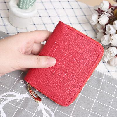 Women Lady Leather Bifold Wallet Zipper Clutch Card Holder Purse Mini Handbag 3