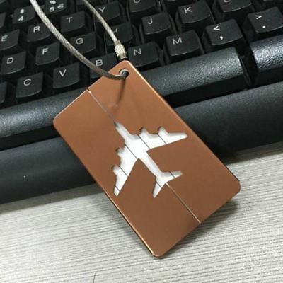 Aluminium Travel Luggage Tag Baggage Suitcase Bag Identity Address Name Labels 6