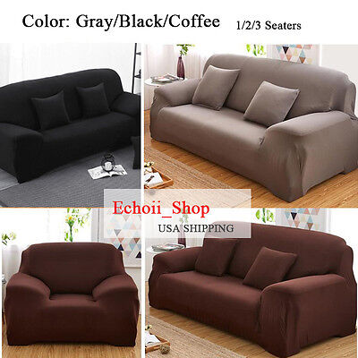 1-3 Seater Stretch Loveseat Sofa Couch Protect Cover Slipcover Washable Elastic 4