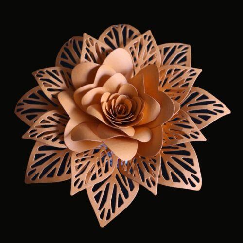 Hollow Flower Cutting Dies Stencil DIY Scrapbooking Embossing Paper Card Craft 2