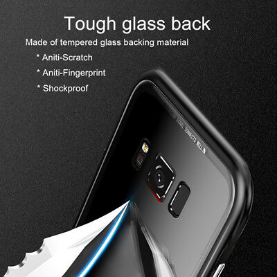 Magnetic Absorption Metal Tempered Glass Back Case For For iPhone X XS MAX XR
