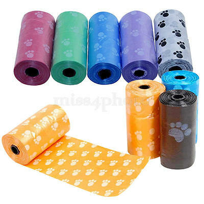 5Rolls Pet Poo Poop Bag Dog Cat Waste Garbage Pick Up Clean Refill Garbage Bags 7