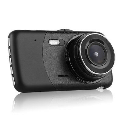 "4""1080P Dual Lens Car Dash Cam Front and Rear Camera DVR Recorder Video 170° 8"