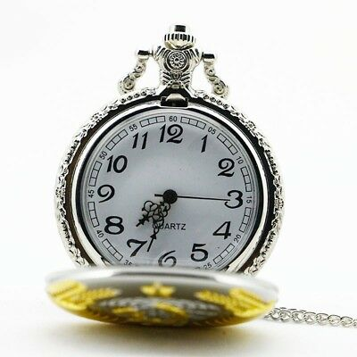 Soviet Pocket Watch Necklace Mens Clock Union USSR Moscow Vintage Putin Russia 5
