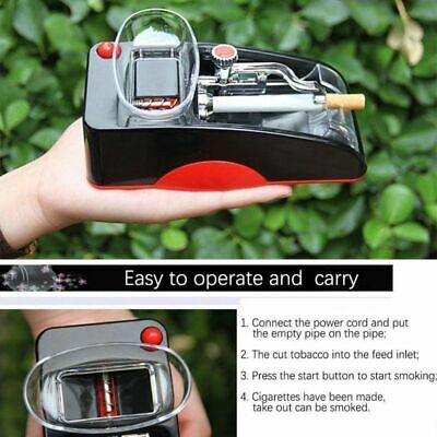 Electric Automatic Cigarette Rolling Machine Tobacco Injector Maker Roller Red 4