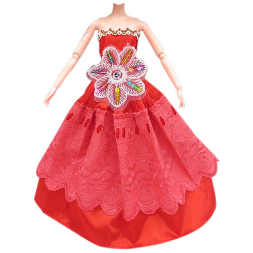 3Pcs Fashion Handmade Dolls Clothes Wedding Grow Party Dresses For Dolls 5