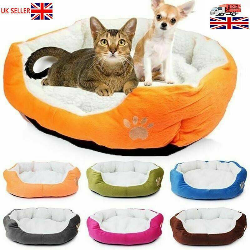 Deluxe Warm Soft Washable Dog Cat Pet Warm Basket Bed Cushion with Fleece Lining 4