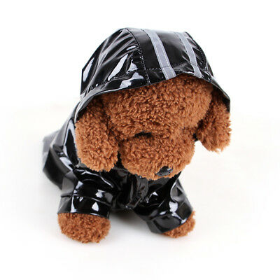 Waterproof Dog Hooded Raincoat Rain Coat Pet Jacket Puppy Clothes Costume