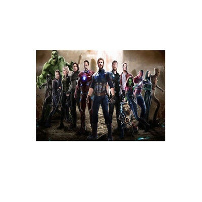 Avengers 4 & 3 Infinity War Movie Thanos Iron Man Kraft Paper Posters Picture 12