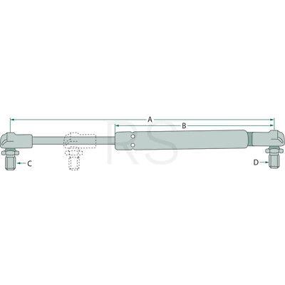 745 844S 845 955 Gasdruckfeder Heckscheibe für Case IH//IHC 743 3225465R2
