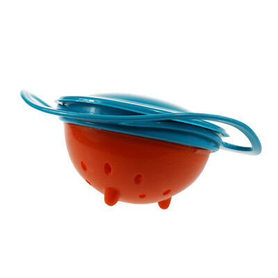 Baby Kids Infant Feeding Dishes Gyro Bowl Universal 360 Rotate Spill Proof Bowl 10