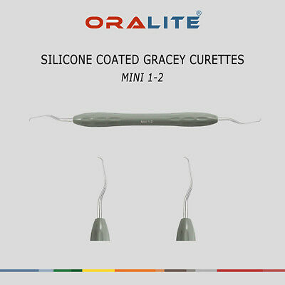 Silicone Coated Gracey Curette Mini 1/2 Dental Instrument Periodontal Scaler