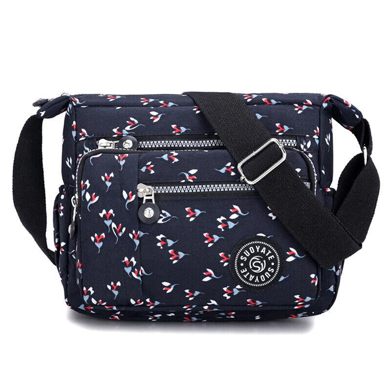 Women Canvas Handbag Pocket Shoulder Bag Travel Messenger Crossbody JJ 7