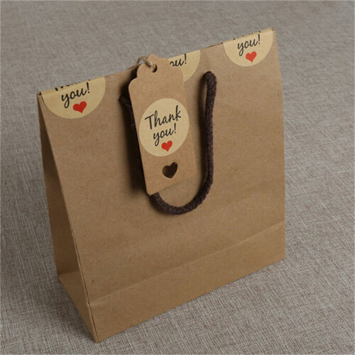 100pcs Blank Kraft Paper Hang Tags Wedding Party Favor Label Price Gift Card SS 6