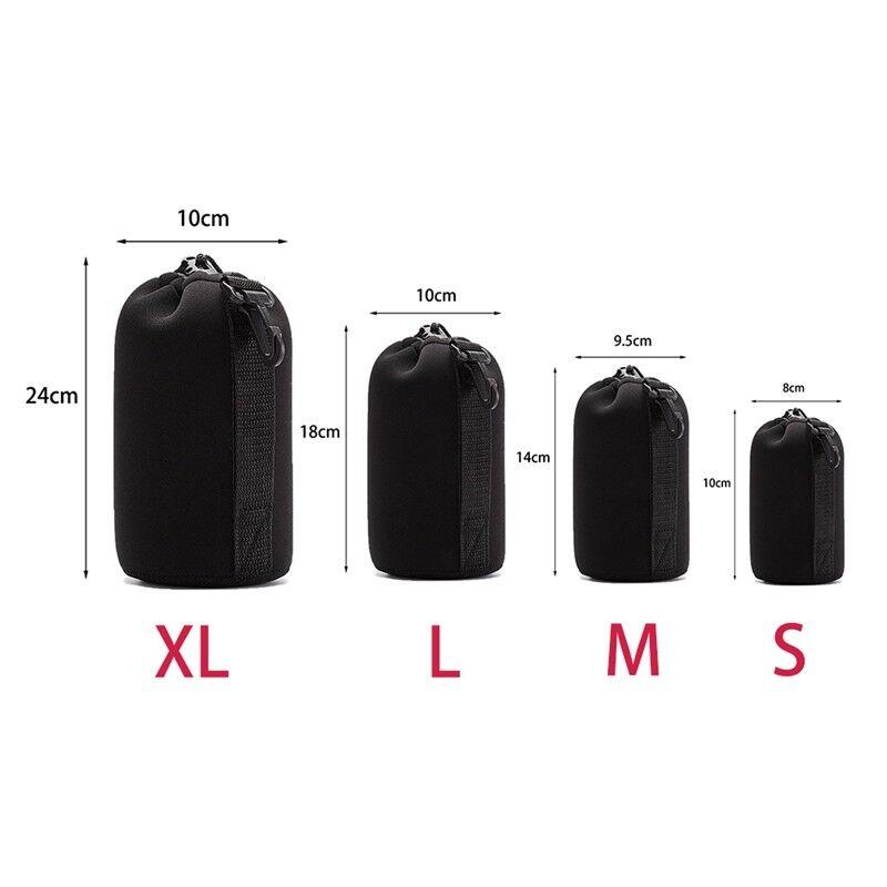 1Pc Neoprene Camera Lens Pouch Soft Bag Case Protector For Canon Nikon Sony DSLR 2