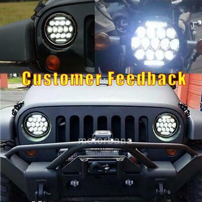 2X 7 Inch Round 280W Total LED Headlights Hi/Lo for 97-17 JEEP JK TJ LJ Wrangler 3