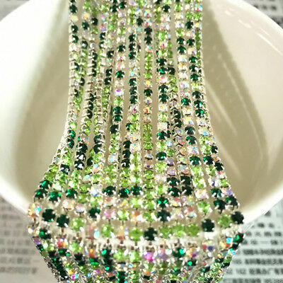 Wholesale 1-Row SS8 Cystal Rhinestone Trim Close Cup Chain Claw Jewelry Crafts 8
