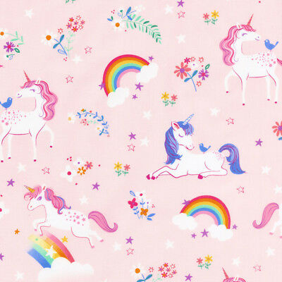 Happy little unicorns 100% cotton fabric by Robert Kaufman per FQT 6