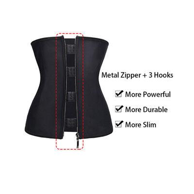 Fajas Colombianas Zip Latex Rubber Waist Trainer Weight Loss Cincher Slim Corset 4