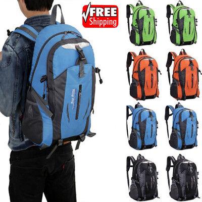Men's Waterproof Backpack Rucksack Hiking Camping Trekking Bag School Bag Pack 3
