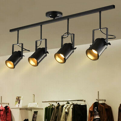 wholesale dealer 630b9 00109 INDUSTRIAL VINTAGE LED Track Lighting Kit Fixture Island Spotlight Ceiling  Light