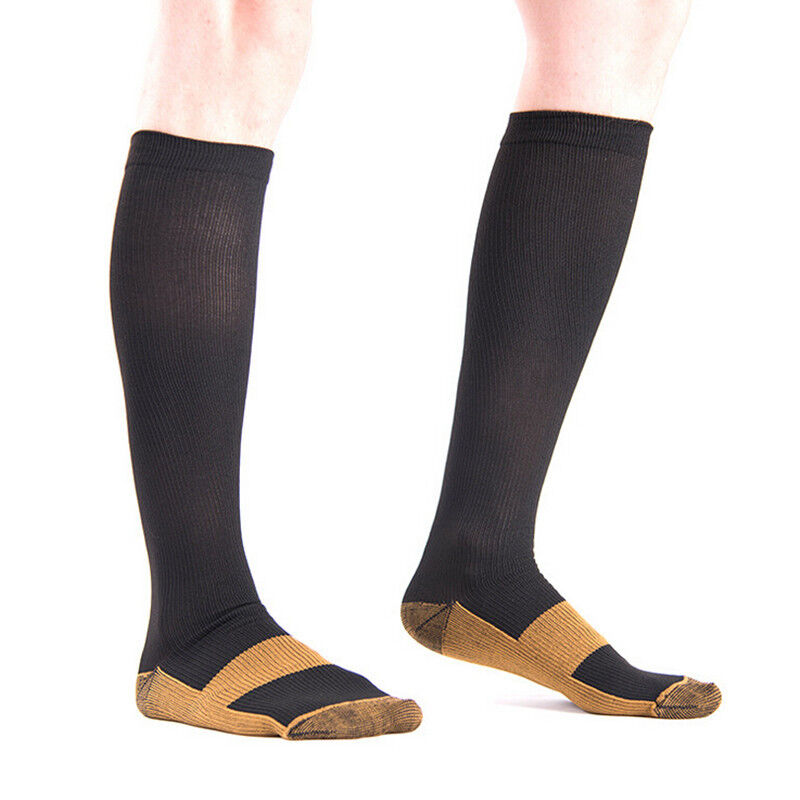 (3 Pairs) Copper Infused Compression Socks 20-30mmHg Graduated Mens Womens S-XL 9