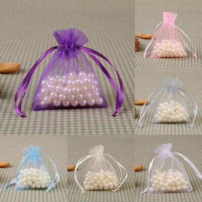 20-100Pcs Small White Organza Bags Wedding Favour Pouches Gift Candy Bag 10X15cm 4