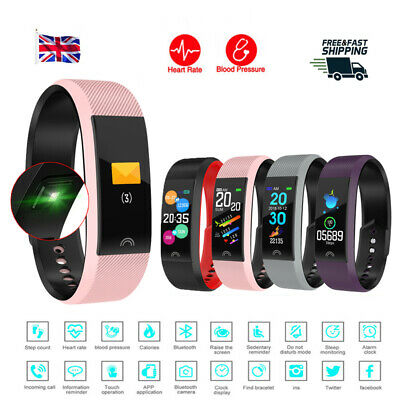 Smart Watch Fitness Tracker Heart Rate Blood Pressure Tempered Mirror Waterproof 3