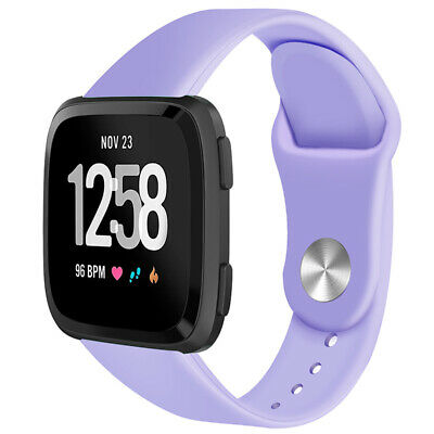 For Fitbit Versa Smartwatch Soft Silicone Replacement Sports Classic Band Strap 7