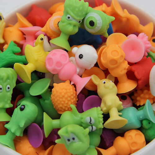 10pcs Mini Animal Action Figure Sucker Cup Cartoon Monster Child Kids Toys w 6