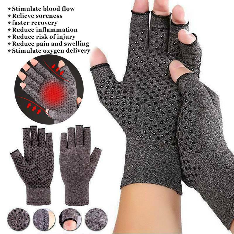 Anti Arthritis Gloves Hand Support Pain Relief Arthritis Finger Compression GW 4
