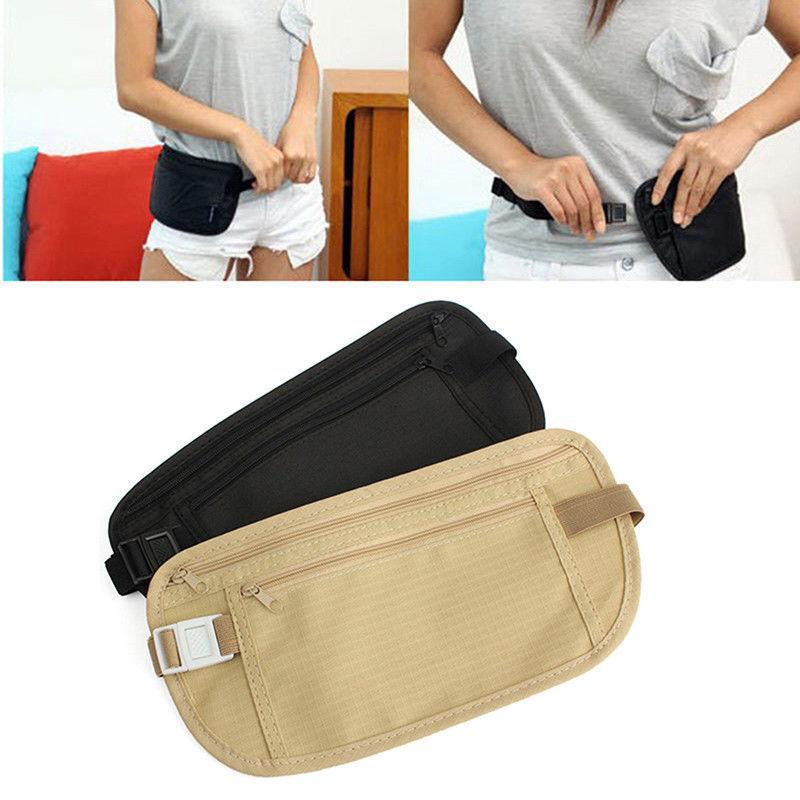 Travel Money Belt Hidden Waist Security Wallet Bag Passport Pouch RFID Holder 3