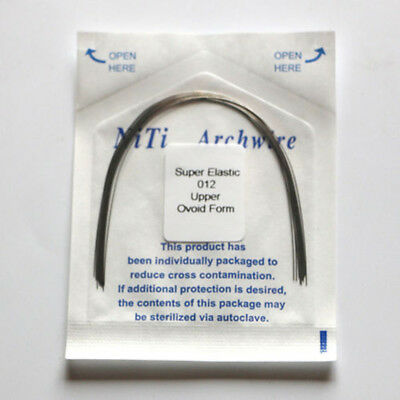0.12-0.2 Dental Orthodontic Super Elastic Niti Arch Wire Round 10 Size Oval Form