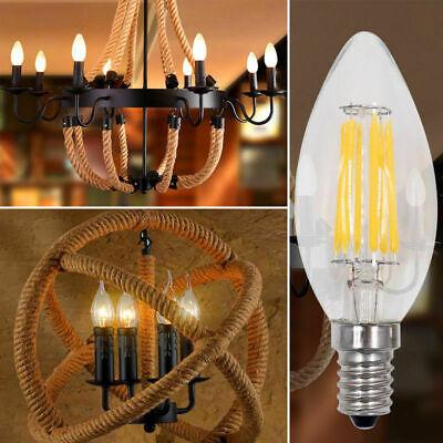 1x/4x 2W 4W 6W 8W E27 E14 LED Edison Filament Candle Globe Light Bulbs Lamp 8