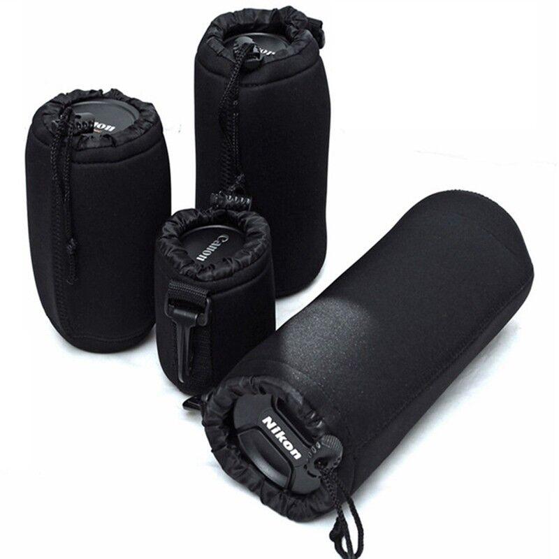 1Pc Neoprene Camera Lens Pouch Soft Bag Case Protector For Canon Nikon Sony DSLR 3