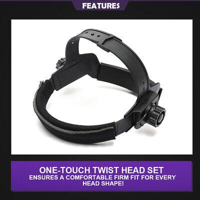 New Brand Pro Solar Auto Darkening Welding Helmet Arc Tig Glossy Black Mask 8