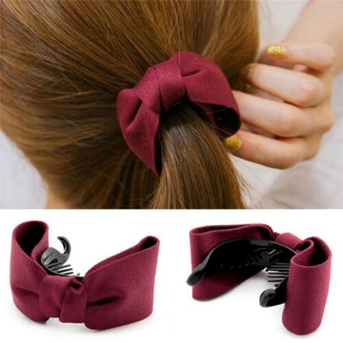 Haarspangen mit großer Schleife für Damen,Stirnband Haarschmu-M0HWC