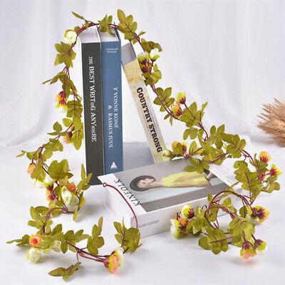 Cute 7Ft Artificial Fake Silk Rose Flower Hanging Garland Garden Wedding Decor 3