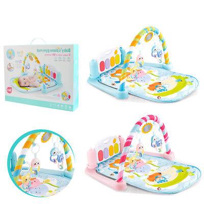 Krabbeldecke Spielbogen Spieldecke Erlebnisdecke Spielzeug für Babys mit Musik