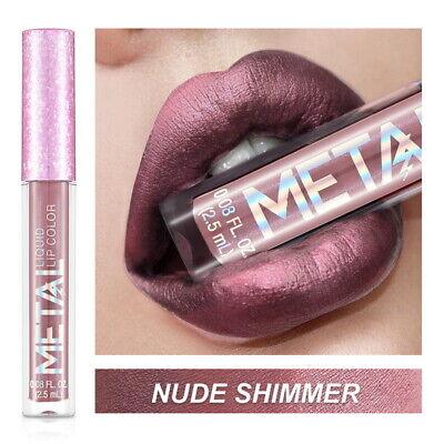 Long Lasting Lip Liquid Matte Metallic Glitter Lipstick Lip Gloss Makeup 2019 4