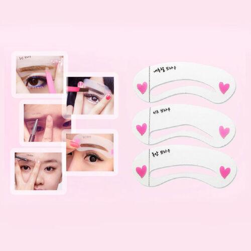 KOREAN 3 STYLE Mini Brow Class Drawing Guide Eyebrow card Template ...