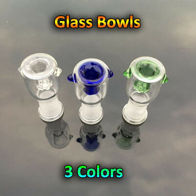 14mm 18mm Male Female Honeycomb Built-in Screen Glass Bowl Green Blue Clear 3