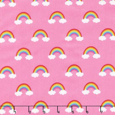 Happy little unicorns 100% cotton fabric by Robert Kaufman per FQT 3