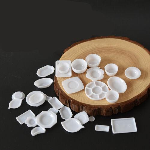 33pcs/Set Dollhouse Miniature Tableware Plastic Plate Dishes Set Mini Food 2017 2
