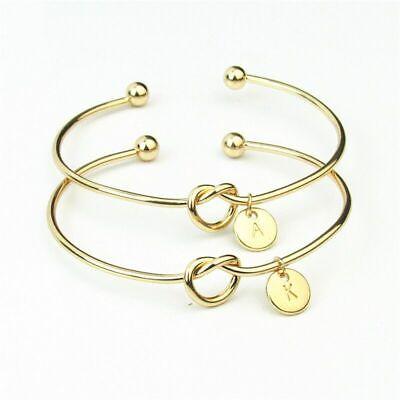 Personalized Initial Knot Bracelet Monogram Bracelet Bridesmaid Letter Bracelet 7