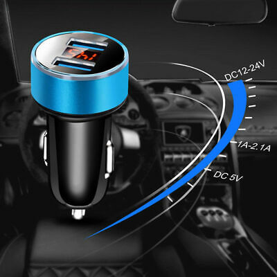 Dual Ports 3.1A USB Car Cigarette Charger Lighter Digital LED Voltmeter 12V/24V 7