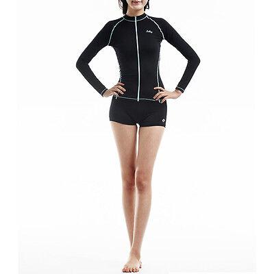 Belleap Rash Guard Womens Zip-Up Long Sleeve Swimwear UV Protection 0313